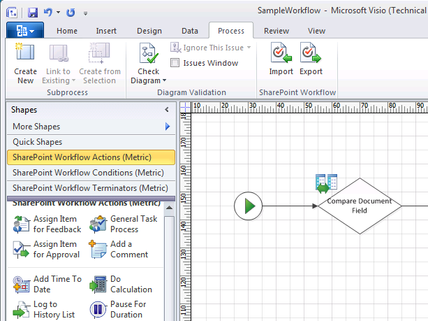 SharePoint-Worflow-Design in Visio 2010