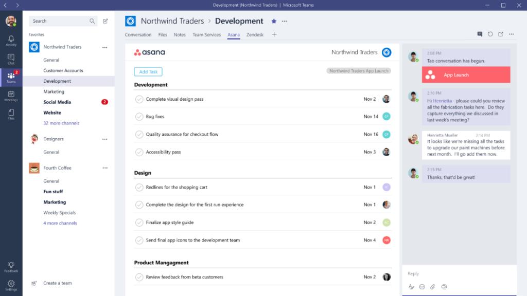 Tabs erlauben, externe Anwendungen direkt in Microsoft Teams zu nutzen.