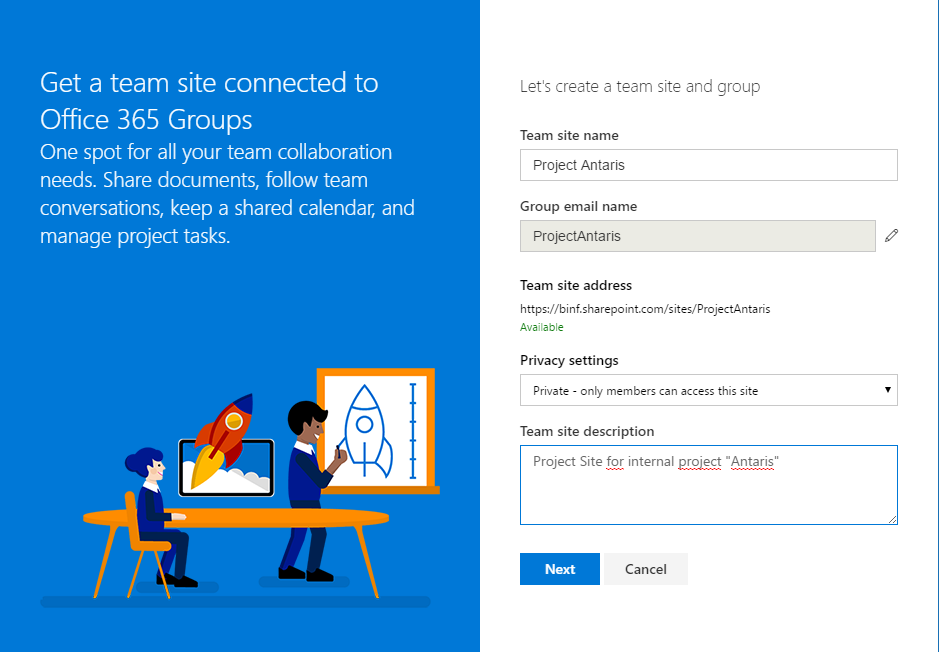 SharePoint Fast Site Creation