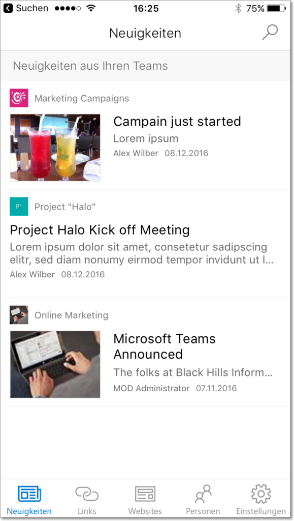SharePoint Mobile App News