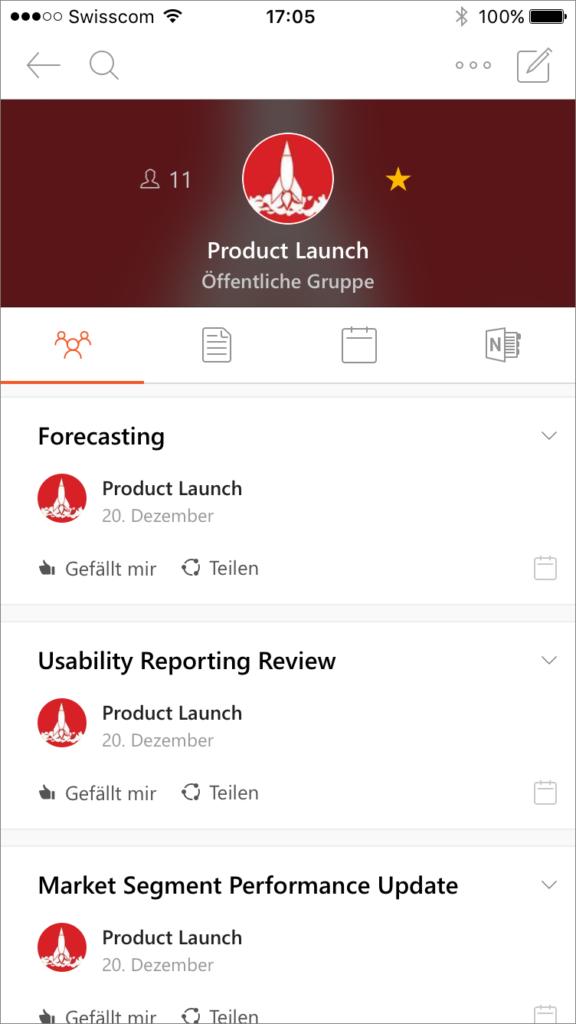 Outlook Groups iOS App
