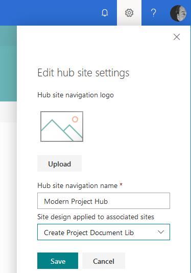 SiteDesigns für HubSites
