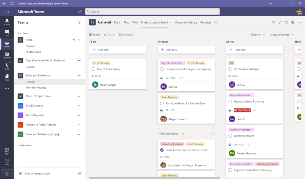 Microsoft Teams Planner Plan
