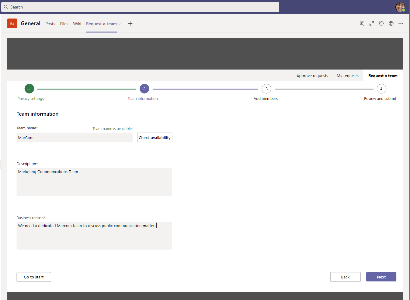 Microsoft Teams and Power Apps Form